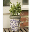 Aged Ceramic Garden Planter Or Plant Pot
