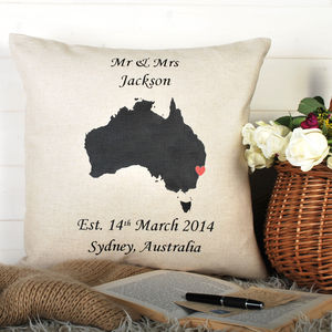Anniversary Location Cushion