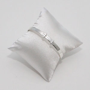 Silver Engraved Baby Bangle With Star - gifts for babies