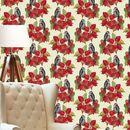Bird And Poinsettia Wallpaper