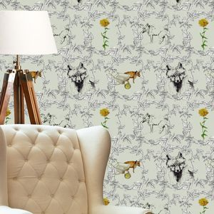 Foxy Gardner Wallpaper - home decorating