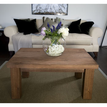 Chunky Solid Wood Coffee Table