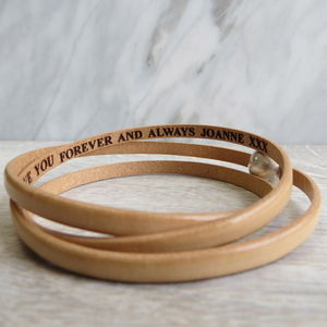 Secret Message Wrap Bracelet - personalised gifts for her