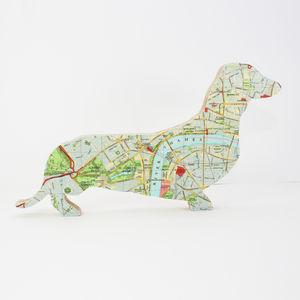 London Map Dachshund 'Sausage Dog'