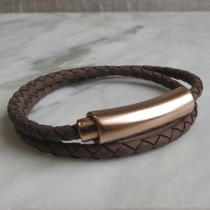 Bolo Bracelet With Rose Gold Clasp