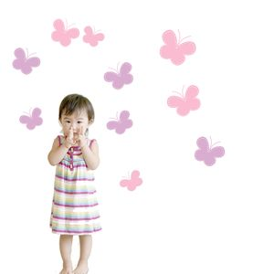 Butterfly Fabric Wall Stickers - home decorating