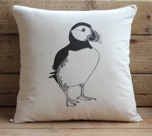 Puffin Cushion Cover With Inner Option - cushions