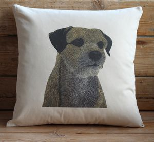 Border Terrier Cushion Cover - cushions