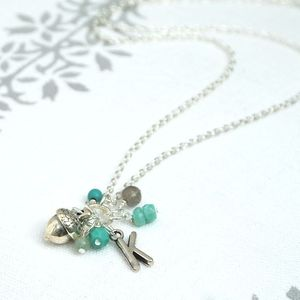 Personalised Birthstone Cluster Necklace - necklaces & pendants