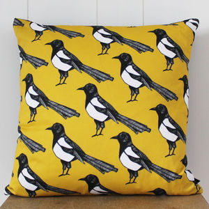 Mischievous Magpie Cushion - patterned cushions
