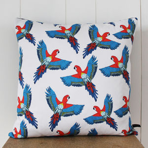 Majestic Macaw Cushion - cushions