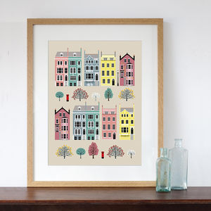 London Row Houses Art Print