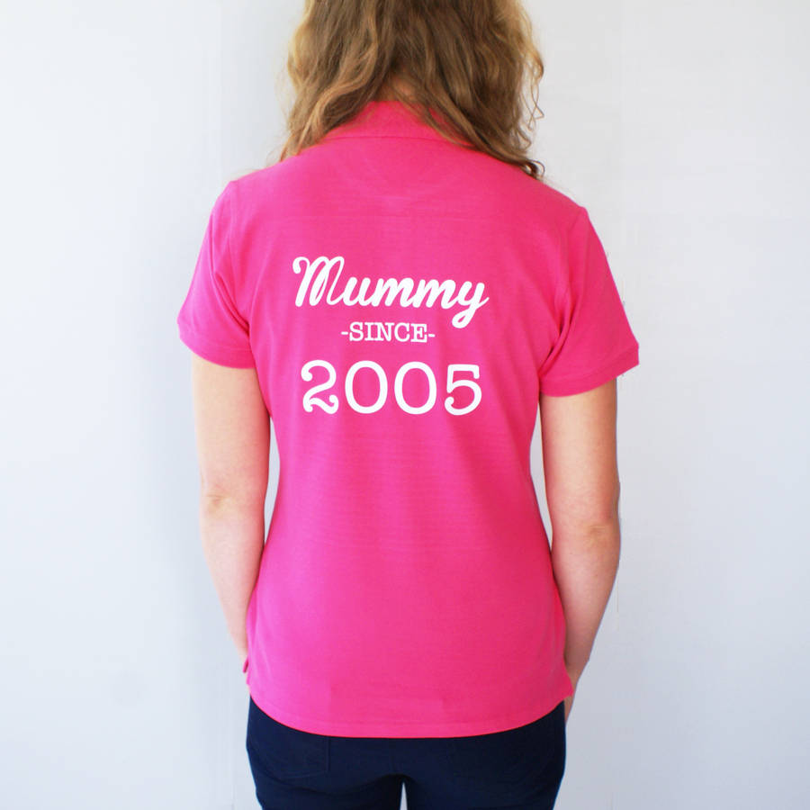 b7fd13a382 personalised mummy and baby polo shirt set by sparks and daughters ...