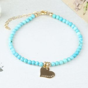 Personalised Delicate Turquoise Bracelet - women's jewellery