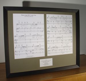 Sheet Music For Your Favourite Song Mounted And Framed - mixed media & collage