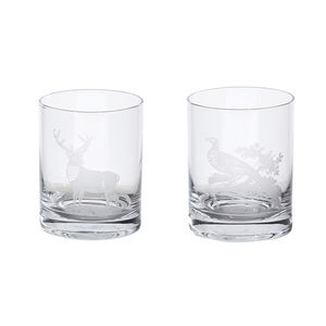 Gentlemen's Etched Whiskey Tumblers - drink & barware