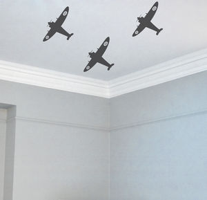 Spitfire Wall Stickers - wall stickers