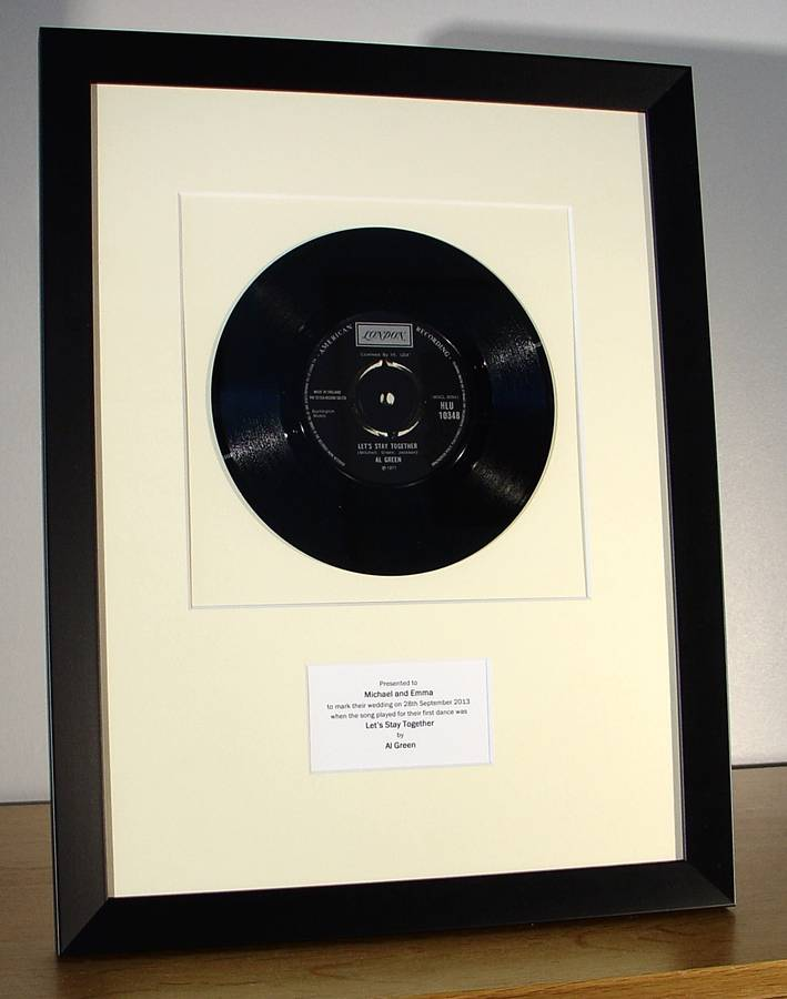 framed first dance wedding song: original vinyl record by the old ...