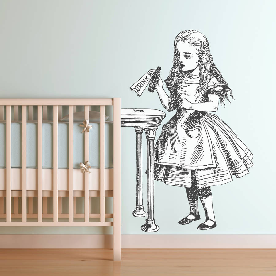 Superieur U0027Drink Meu0027 Alice In Wonderland Wall Sticker · U0027