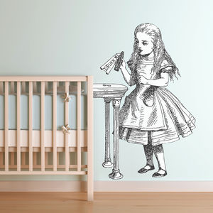 'Drink Me' Alice In Wonderland Wall Sticker - alice in wonderland gifts
