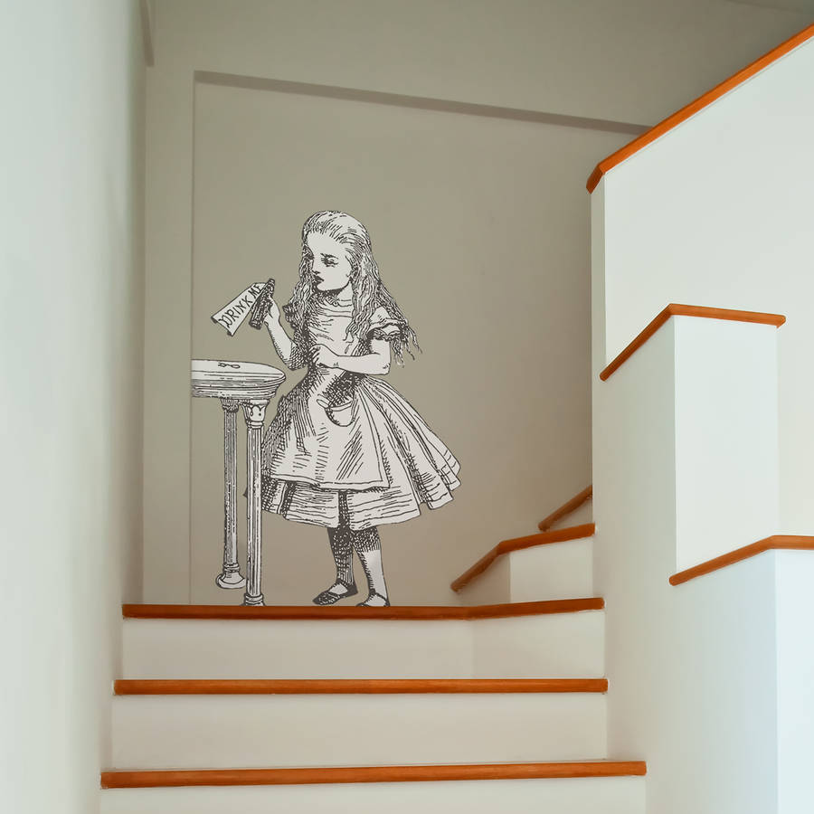 U0027Drink Meu0027 Alice In Wonderland Wall Sticker. U0027