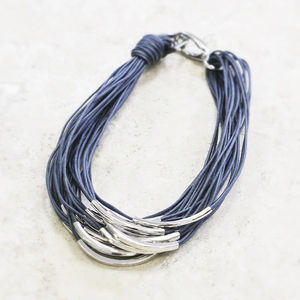 Katia Silver And Thread Necklace
