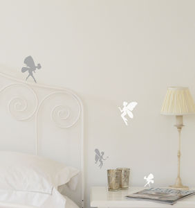Set Of Mini Fairy Wall Stickers - office & study
