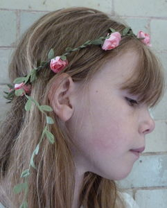 Rosy Rose Headband - bridesmaid accessories