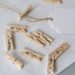 Wooden Mini Pegs