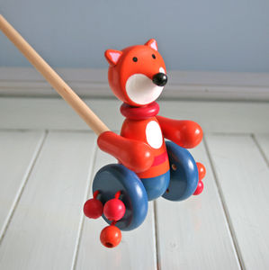 Mr Fox Push Along Toy - stocking fillers