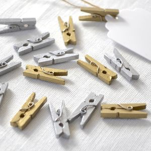 Metallic Mini Pegs - wedding stationery