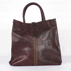 Leather Indiana Handbag - bags & purses