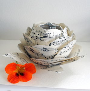 Music Paper Rose Flower Light Centrepiece LED Light - view all mother's day gifts
