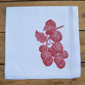 Raspberries Napkin - table linen