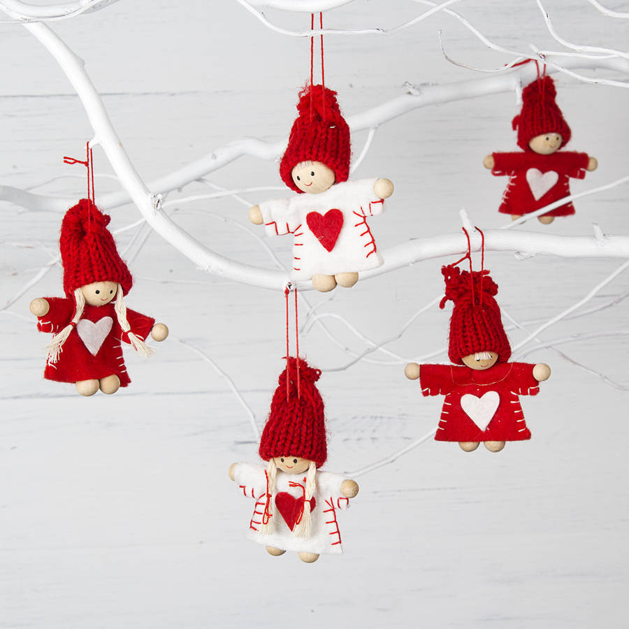 Red and white mini christmas tree decoration by the White christmas centerpieces