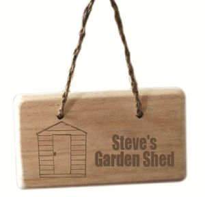 Wooden Personalised Shed Signs