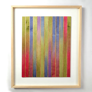 Original Framed Artwork 'Gradation With Gold Eight' - shop by price