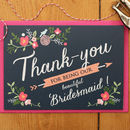 Floral Bridesmaid Thank You Card
