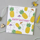 Pineapples Birthday Card