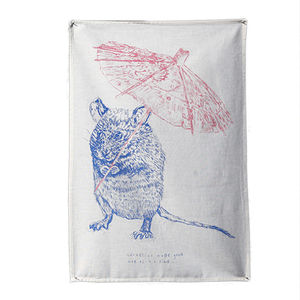 'Cornelius Mouse' Tea Towel