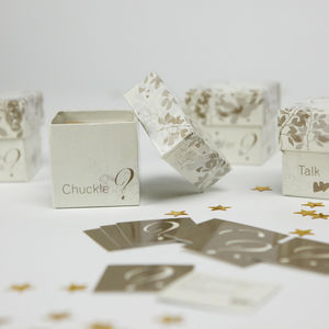 Romantic Table Trivia - wedding favours