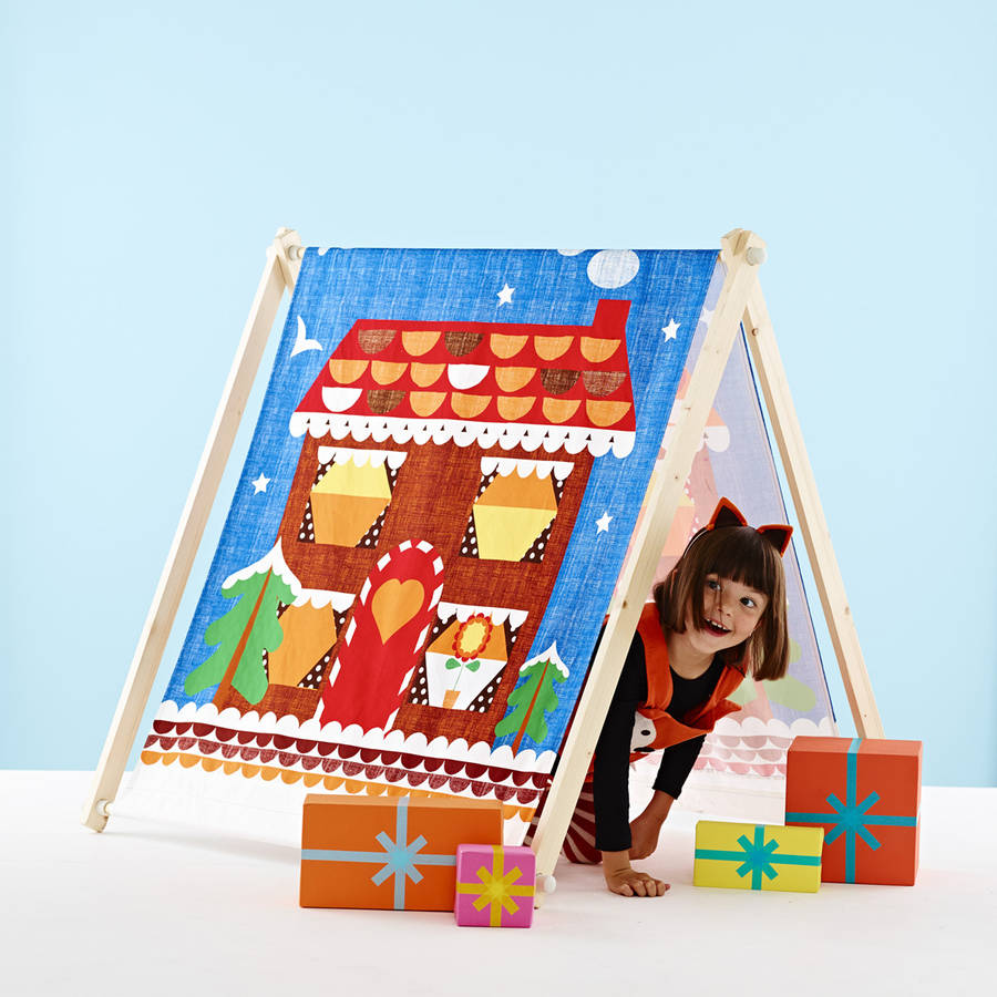 Play Den Tent Gingerbread House  sc 1 st  Notonthehighstreet.com & play den tent gingerbread house by wild things funky little dresses ...