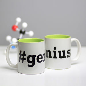 Hashtag Genius Mug - exam congratulations gifts
