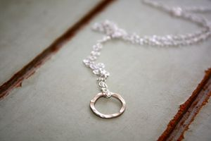 Single Silver Hoop Necklace - bridesmaid jewellery