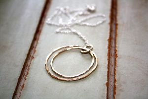 Handmade Double Silver Hooped Necklace