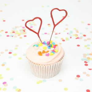 Heart Sparklers - cake decoration