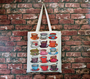 Teacups And Saucers Cotton Tote Bag