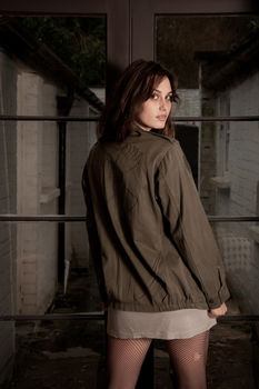 Embroidered Khaki Army Jacket Can Be Personalised