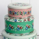 Vintage Flower Set Of Three Cake Tins