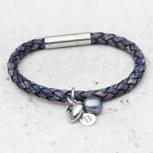 Piera Personalised Leather Bracelet - charm jewellery
